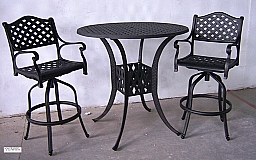 """BAR TABLE 38"""" ROUND -TABLE ONLY- ALUMINUM   (WHILE SUPPLIES LAST)"""