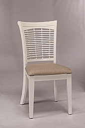 BAYBERRY WICKER DINING CHAIR- SET OF 2 WHITE