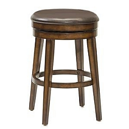 BEECHLAND BACKLESS WOOD SWIVEL BARSTOOL