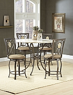 BROOKSIDE OVAL FOSSIL BACK SWIVEL COUNTER STOOL - COMPLETELY KD