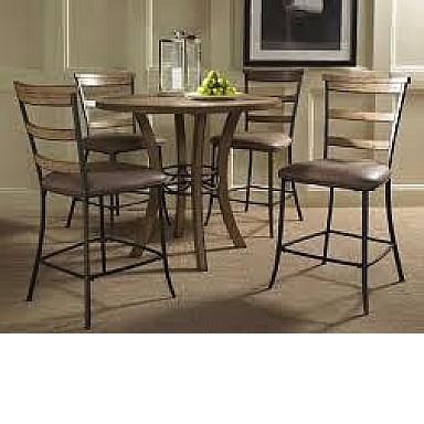 Marlins Furniture Charleston 5 Piece Counter Height Round Wood Dining