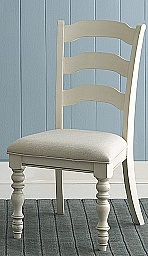 PINE ISLAND LADDER BACK SIDE CHAIR SET OF 2 - OLD WHITE