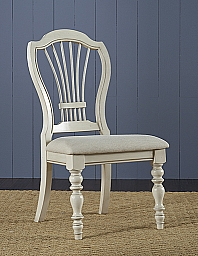 PINE ISLAND WHEAT BACK SIDE CHAIR - SET OF 2  - OLD WHITE