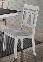 MAISIE DINING SIDE CHAIR (MUST ORDER IN PAIRS)-WHITE/BROWN