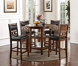 GIA COUNTER DINING 5 PC SET - BROWN
