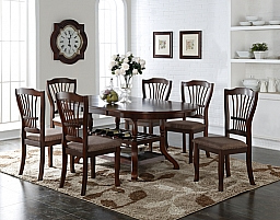 BIXBY DINING TABLE & 6 CHAIRS ESPRESSO