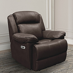 ECLIPSE POWER RECLINER - FLORENCE BROWN LEATHER