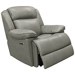 ECLIPSE POWER RECLINER - FLORENCE HERON LEATHER