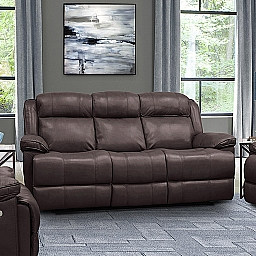 ECLIPSE POWER RECLINING SOFA - FLORENCE BROWN LEATHER