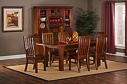 OUTBACK 7 PIECE DINING SET- TABLE WITH LEAF