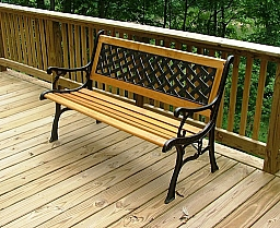 PARK BENCH CAST IRON AND WOOD
