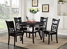 GIA- ROUND DINING TABLE AND 4 CHAIRS