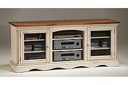 WILSHIRE- ANTIQUE WHITE ENTERTAINMENT CONSOLE